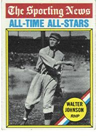 1976 Topps Baseball Cards      349     Walter Johnson ATG