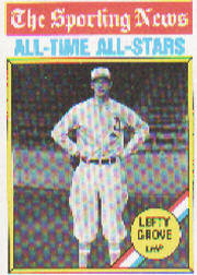 1976 Topps Baseball Cards      350     Lefty Grove ATG