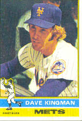 1976 Topps Baseball Cards      040      Dave Kingman