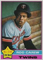 1976 Topps Baseball Cards      400     Rod Carew