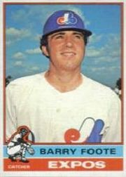 1976 Topps Baseball Cards      042      Barry Foote