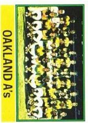 1976 Topps Baseball Cards      421     Oakland Athletics CL