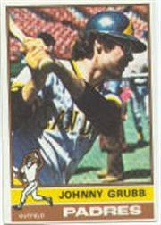 1976 Topps Baseball Cards      422     Johnny Grubb