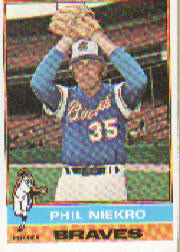 1976 Topps Baseball Cards      435     Phil Niekro