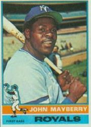1976 Topps Baseball Cards      440     John Mayberry