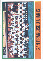 1976 Topps Baseball Cards      443     San Francisco Giants CL