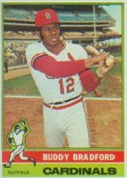 1976 Topps Baseball Cards      451     Buddy Bradford