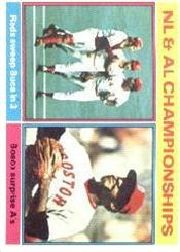 1976 Topps Baseball Cards      461     NL/AL Champs Johnny Bench
