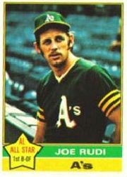 1976 Topps Baseball Cards      475     Joe Rudi