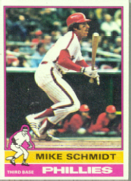 1976 Topps Baseball Cards      480     Mike Schmidt