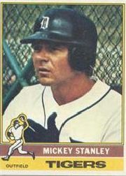 1976 Topps Baseball Cards      483     Mickey Stanley