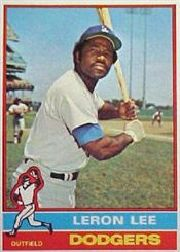 1976 Topps Baseball Cards      487     Leron Lee