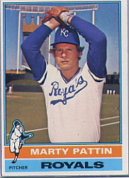 1976 Topps Baseball Cards      492     Marty Pattin