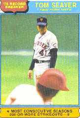 1976 Topps Baseball Cards      005       Tom Seaver RB