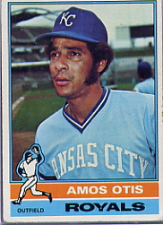 1976 Topps Baseball Cards      510     Amos Otis