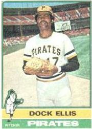 1976 Topps Baseball Cards      528     Dock Ellis