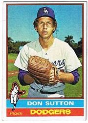 1976 Topps Baseball Cards      530     Don Sutton