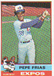 1976 Topps Baseball Cards      544     Pepe Frias