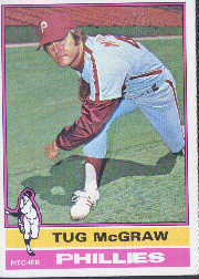 1976 Topps Baseball Cards      565     Tug McGraw