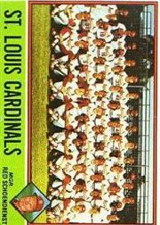 1976 Topps Baseball Cards      581     St. Louis Cardinals CL/Red Schoendienst