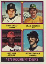 1976 Topps Baseball Cards      591     Steve Grilli/Craig Mitchell/Jose Sosa/George Throop RC