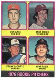 1976 Topps Baseball Cards      597     Don Aase/Jack Kucek/Frank LaCorte/Mike Pazik RC