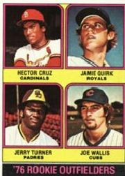 1976 Topps Baseball Cards      598     Hector Cruz/Jamie Quirk/Jerry Turner/Joe Wallis RC