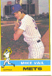 1976 Topps Baseball Cards      655     Mike Vail RC