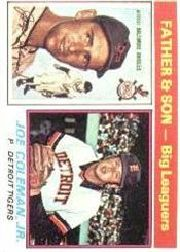 1976 Topps Baseball Cards      068      Joe/Joe Jr. Coleman FS