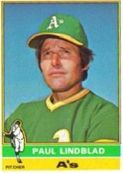 1976 Topps Baseball Cards      009       Paul Lindblad