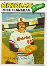 1977 Topps Baseball Cards      106     Mike Flanagan