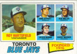 1977 Topps Baseball Cards      113     Toronto Blue Jays CL/Roy Hartsfield
