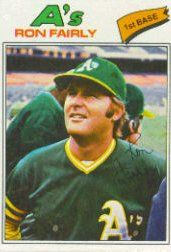 1977 Topps Baseball Cards      127     Ron Fairly