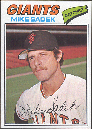 1977 Topps Baseball Cards      129     Mike Sadek