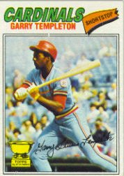 1977 Topps Baseball Cards      161     Garry Templeton RC