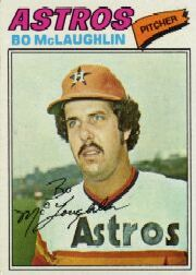 1977 Topps Baseball Cards      184     Bo McLaughlin RC