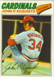 1977 Topps Baseball Cards      019      John D Acquisto