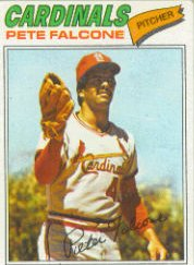 1977 Topps Baseball Cards      205     Pete Falcone