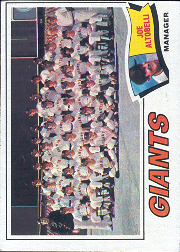 1977 Topps Baseball Cards      211     San Francisco Giants CL/Joe Altobelli
