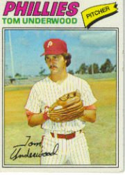 1977 Topps Baseball Cards      217     Tom Underwood