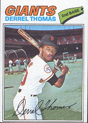 1977 Topps Baseball Cards      266     Derrel Thomas