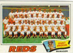 1977 Topps Baseball Cards      287     Cincinnati Reds CL/Sparky Anderson