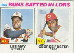 1977 Topps Baseball Cards      003       Lee May/George Foster LL