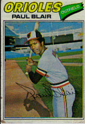 1977 Topps Baseball Cards      313     Paul Blair