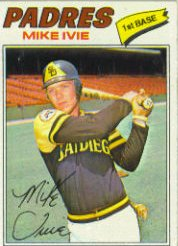 1977 Topps Baseball Cards      325     Mike Ivie