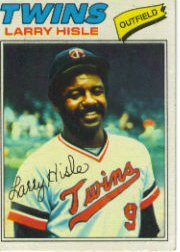 1977 Topps Baseball Cards      375     Larry Hisle