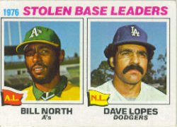 1977 Topps Baseball Cards      004       Bill North/Dave Lopes LL
