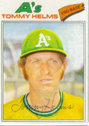 1977 Topps Baseball Cards      402     Tommy Helms