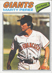 1977 Topps Baseball Cards      438     Marty Perez