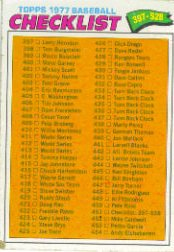 1977 Topps Baseball Cards      451     Checklist 397-528